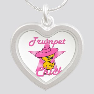 Trumpet Chick #8 Silver Heart Necklace