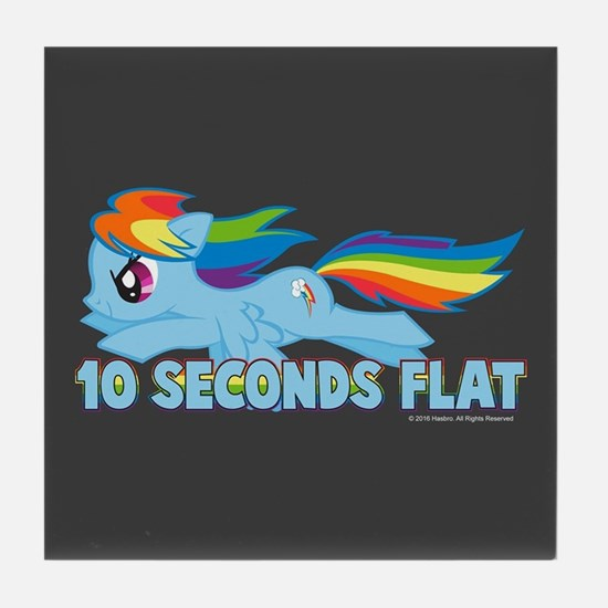 MLP Rainbow Dash 10 Seconds Tile Coaster
