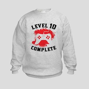 Level 10 Complete 10th Birthday Sweatshirt