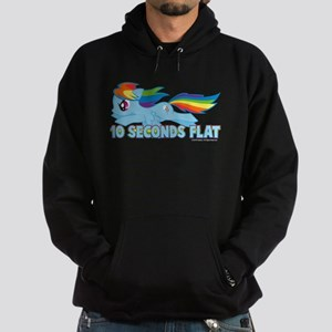 MLP Rainbow Dash 10 Seconds Hoodie (dark)