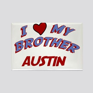 I Love My Brother Austin Rectangle Magnet