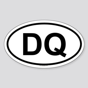DQ Oval Sticker