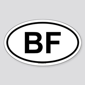 BF Oval Sticker