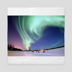 Aurora Borealis/ Northern Lights, Bear Queen Duvet