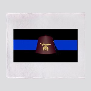 Shriner Thin Blue Line Throw Blanket