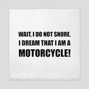 Snore Motorcycle Queen Duvet