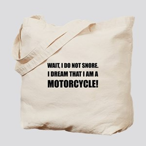 Snore Motorcycle Tote Bag