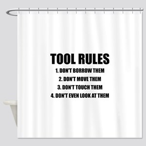 Tool Rules Shower Curtain