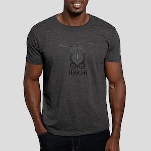 HeliGirl Tribal Heli BW Dark T-Shirt