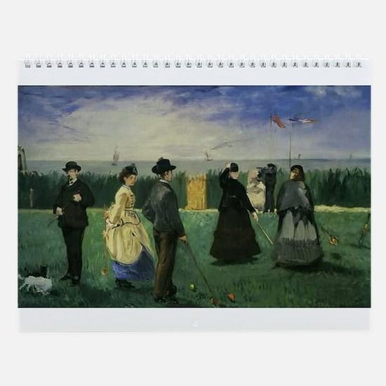 Croquet Wall Calendar
