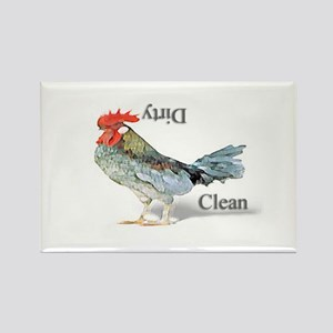 Chicken Country Dishwasher Rectangle Magnet