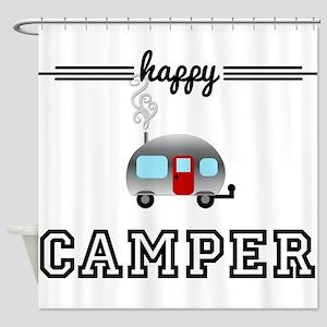 Happy Camper Shower Curtain