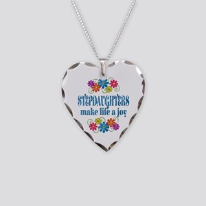 Stepdaughter Joy Necklace Heart Charm