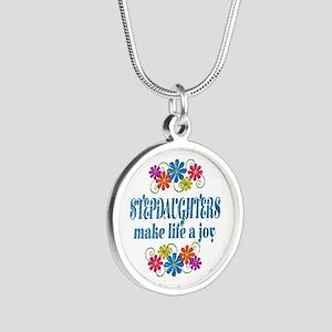 Stepdaughter Joy Silver Round Necklace