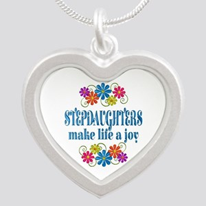Stepdaughter Joy Silver Heart Necklace