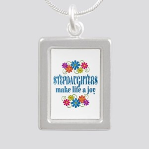 Stepdaughter Joy Silver Portrait Necklace