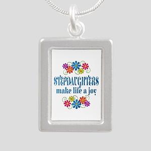Stepdaughter Joy Silver Portrait Necklace