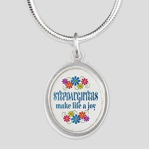 Stepdaughter Joy Silver Oval Necklace