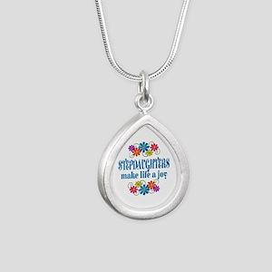 Stepdaughter Joy Silver Teardrop Necklace