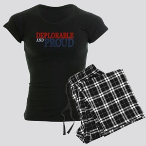 Deplorable and Proud Women's Dark Pajamas