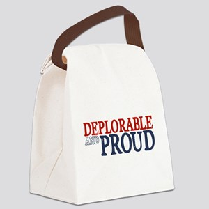 Deplorable and Proud Canvas Lunch Bag