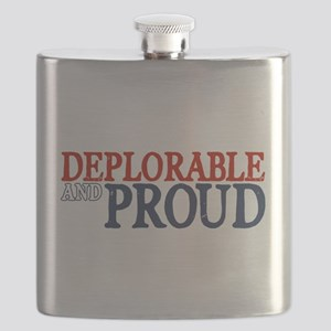 Deplorable and Proud Flask