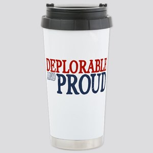 Deplorable and Proud Stainless Steel Travel Mug