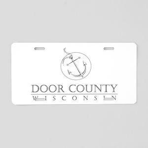 Door County Anchor Aluminum License Plate