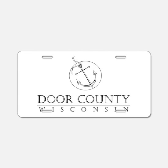 Door County Anchor Aluminum License Plate