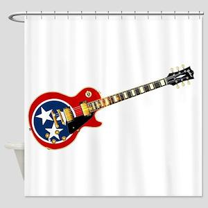 Tennessee Flag Guitar Guitar Shower Curtain