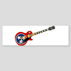 Tennessee Flag Guitar Guitar Bumper Sticker