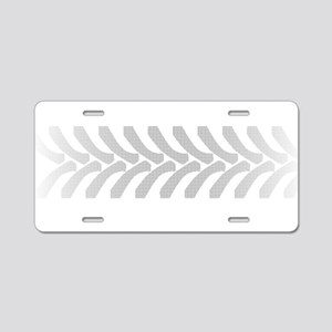 Halftone Tractor Tyre Marks Aluminum License Plate