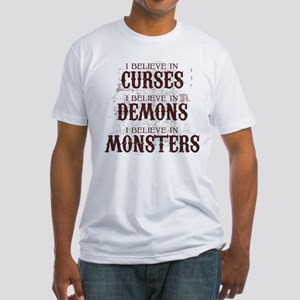 I Believe in Curses Fitted T-Shirt
