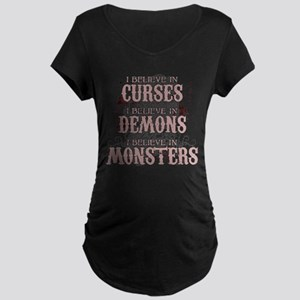 I Believe in Curses Maternity Dark T-Shirt