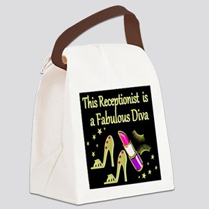 RECEPTIONIST Canvas Lunch Bag