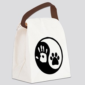 Yin Yang Hand Paw Canvas Lunch Bag