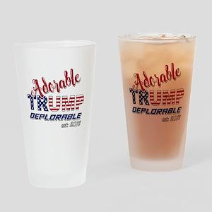 Adorable TRUMP Deplorable 2016 Drinking Glass