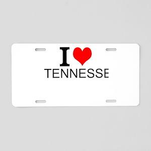 I Love Tennessee Aluminum License Plate