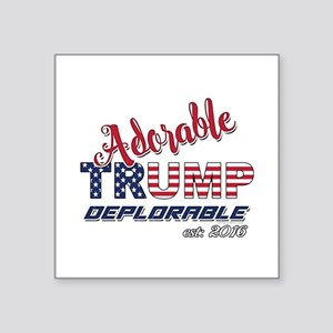 Adorable TRUMP Deplorable 2016 Sticker