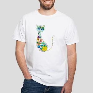 Flowers Kitty Ca T-Shirt