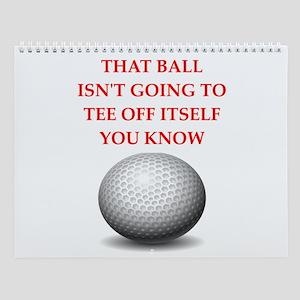 Golfing Wall Calendar