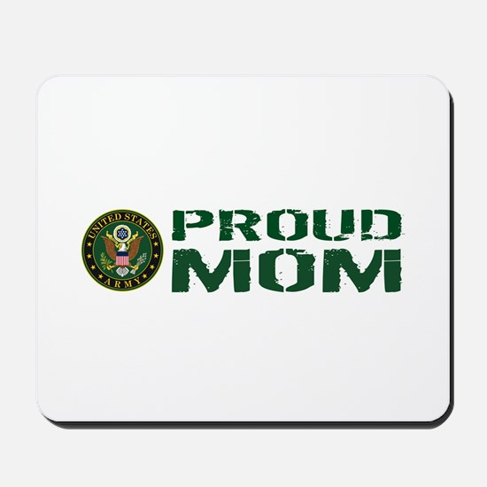 U.S. Army: Proud Mom (Green & White) Mousepad