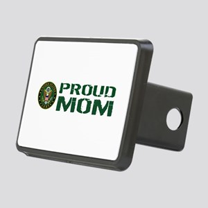 U.S. Army: Proud Mom (Gree Rectangular Hitch Cover