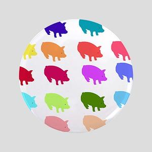 "Rainbow Pigs 3.5"" Button"