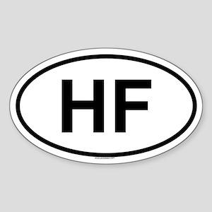 HF Oval Sticker