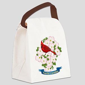 North Carolina Cardinal & Dogwood Canvas Lunch Bag