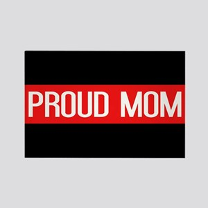 Firefighter: Proud Mom (The Thin Rectangle Magnet