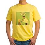 Postcard Explanation Yellow T-Shirt