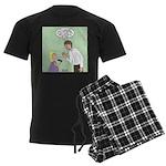 Postcard Explanation Men's Dark Pajamas