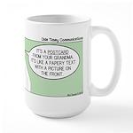 Postcard Explanation Large Mug